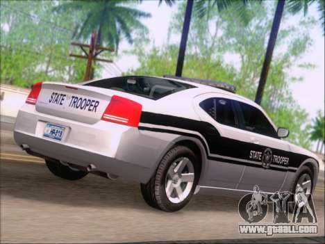 Dodge Charger San Andreas State Trooper for GTA San Andreas back view