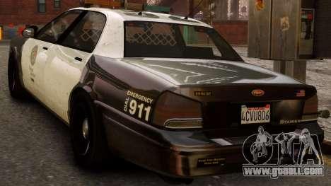 GTA V Police Cruiser for GTA 4 left view