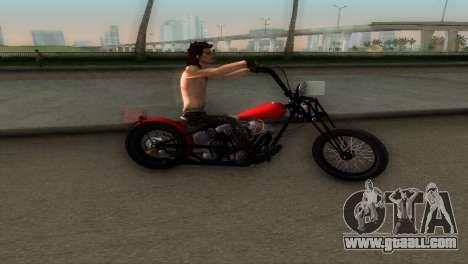 Harley Davidson Shovelhead for GTA Vice City back left view