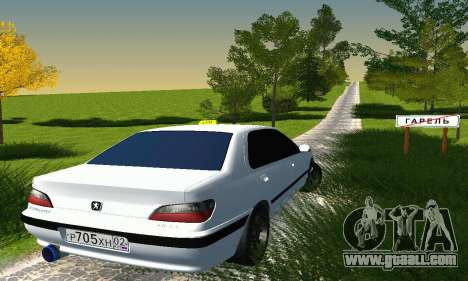 Peugeot 406 Taxi for GTA San Andreas right view