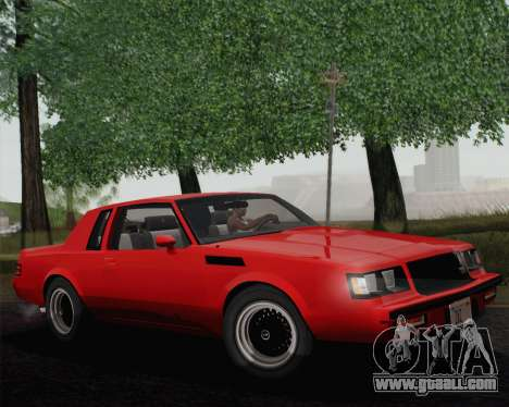 Buick GNX 1987 for GTA San Andreas