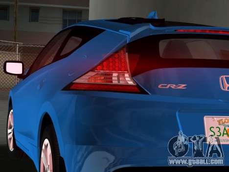 Honda CR-Z 2010 for GTA Vice City right view