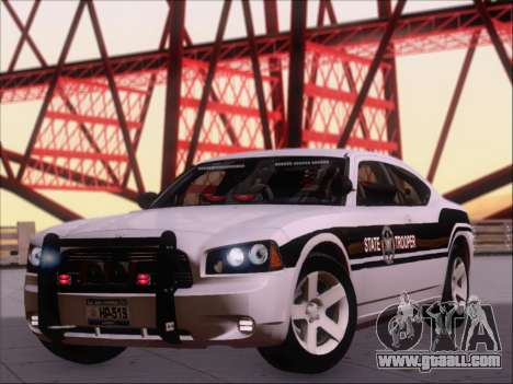 Dodge Charger San Andreas State Trooper for GTA San Andreas left view