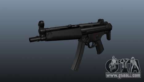 HK MP5A5 submachine gun for GTA 4