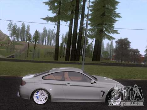 BMW F32 4 series Coupe 2014 for GTA San Andreas back left view