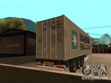Trailer MAERSK for GTA San Andreas left view
