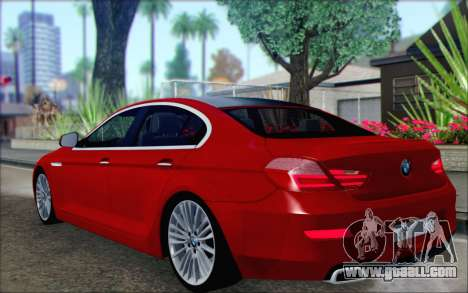 BMW 6 Gran Coupe v1.0 for GTA San Andreas left view