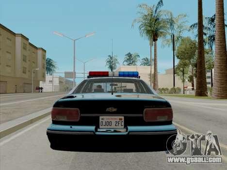 Chevrolet Caprice LAPD 1991 [V2] for GTA San Andreas back left view