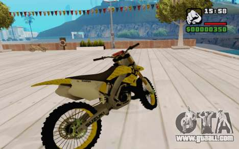 Suzuki RM 250 for GTA San Andreas right view