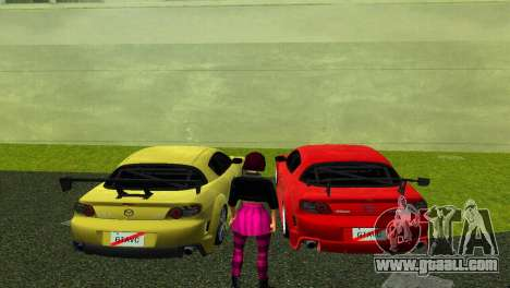 Mazda RX8 Type 1 for GTA Vice City back left view