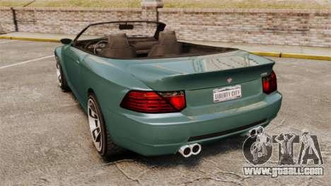 GTA V Zion XS Cabrio for GTA 4 back left view