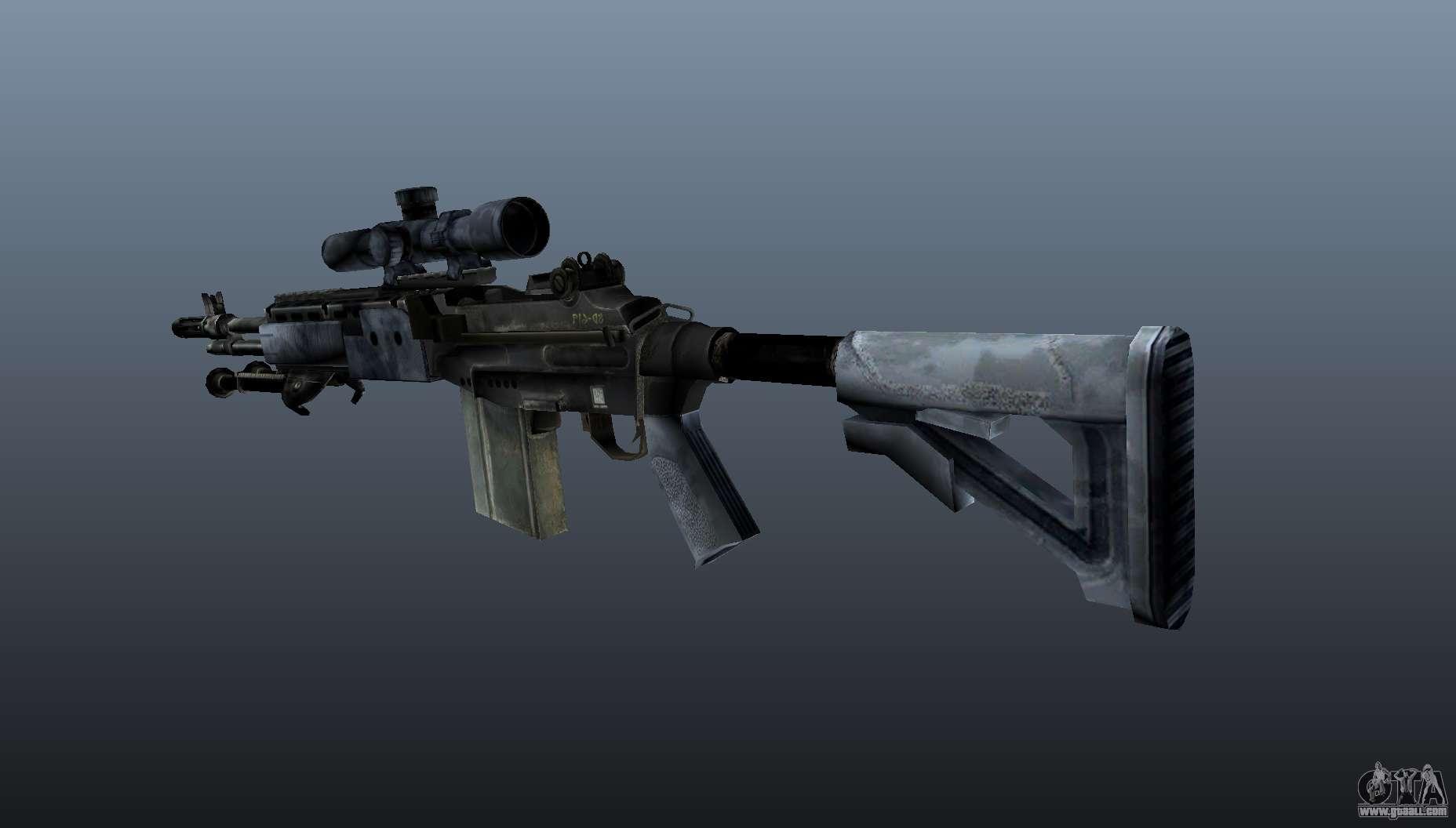 Mk14 M21 sniper rifle v2 for GTA 4
