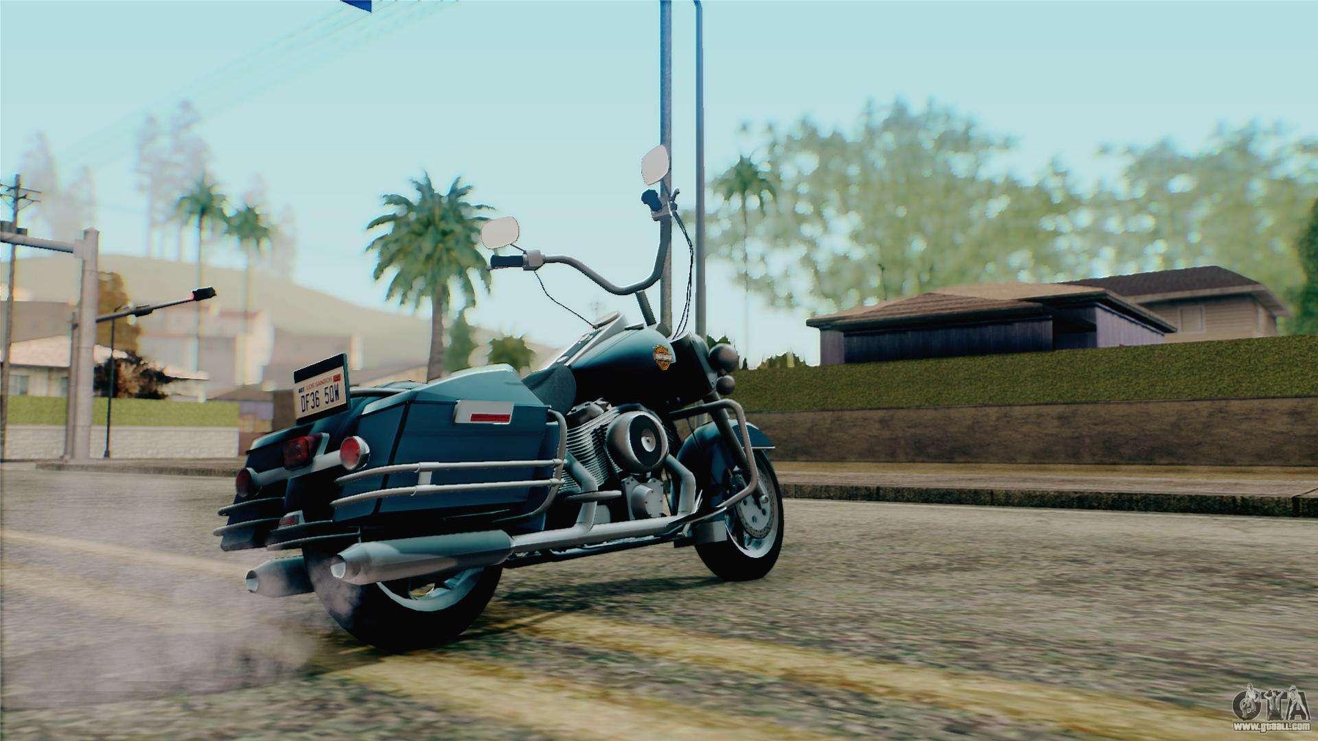 Gta  Harley Davidson Police Bike
