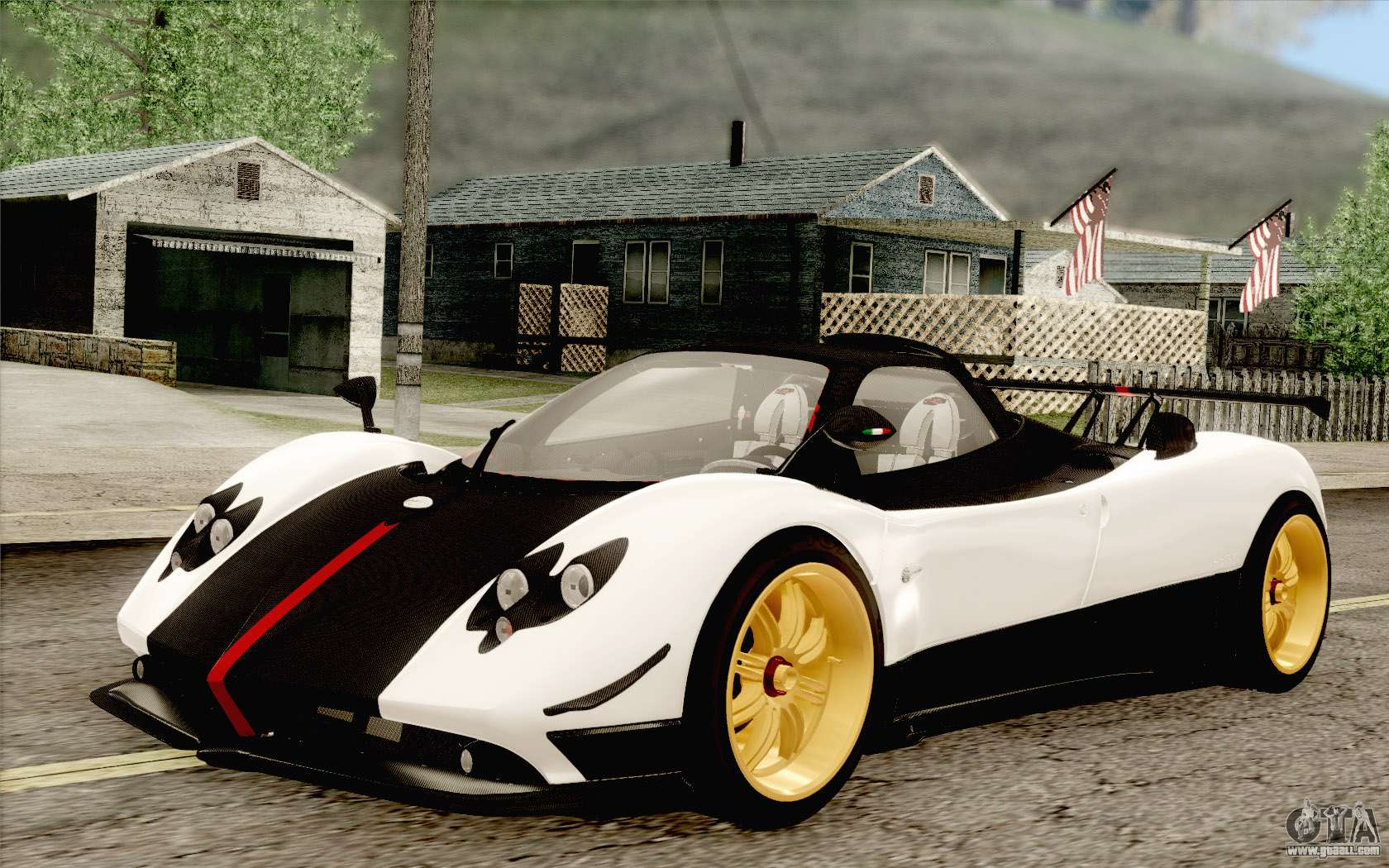 pagani zonda cinque for gta san andreas. Black Bedroom Furniture Sets. Home Design Ideas