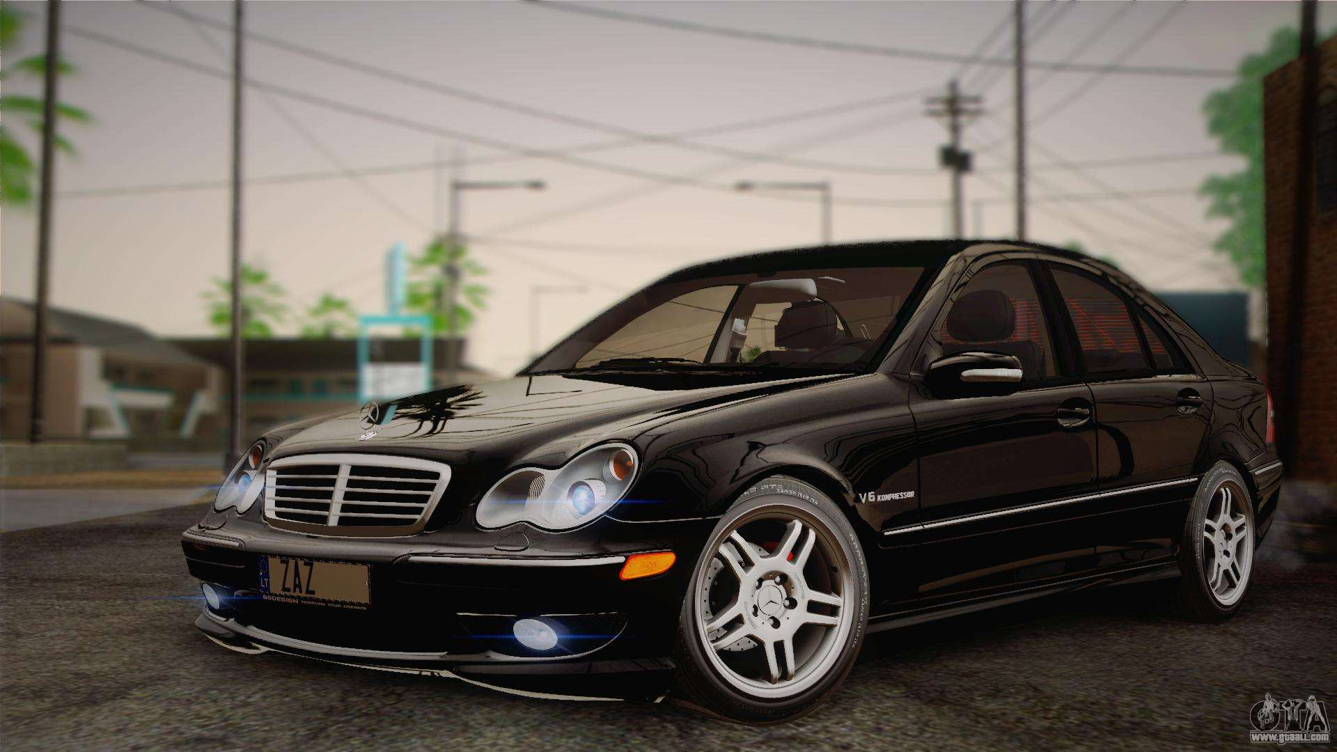 mercedes benz c32 amg 2004 for gta san andreas