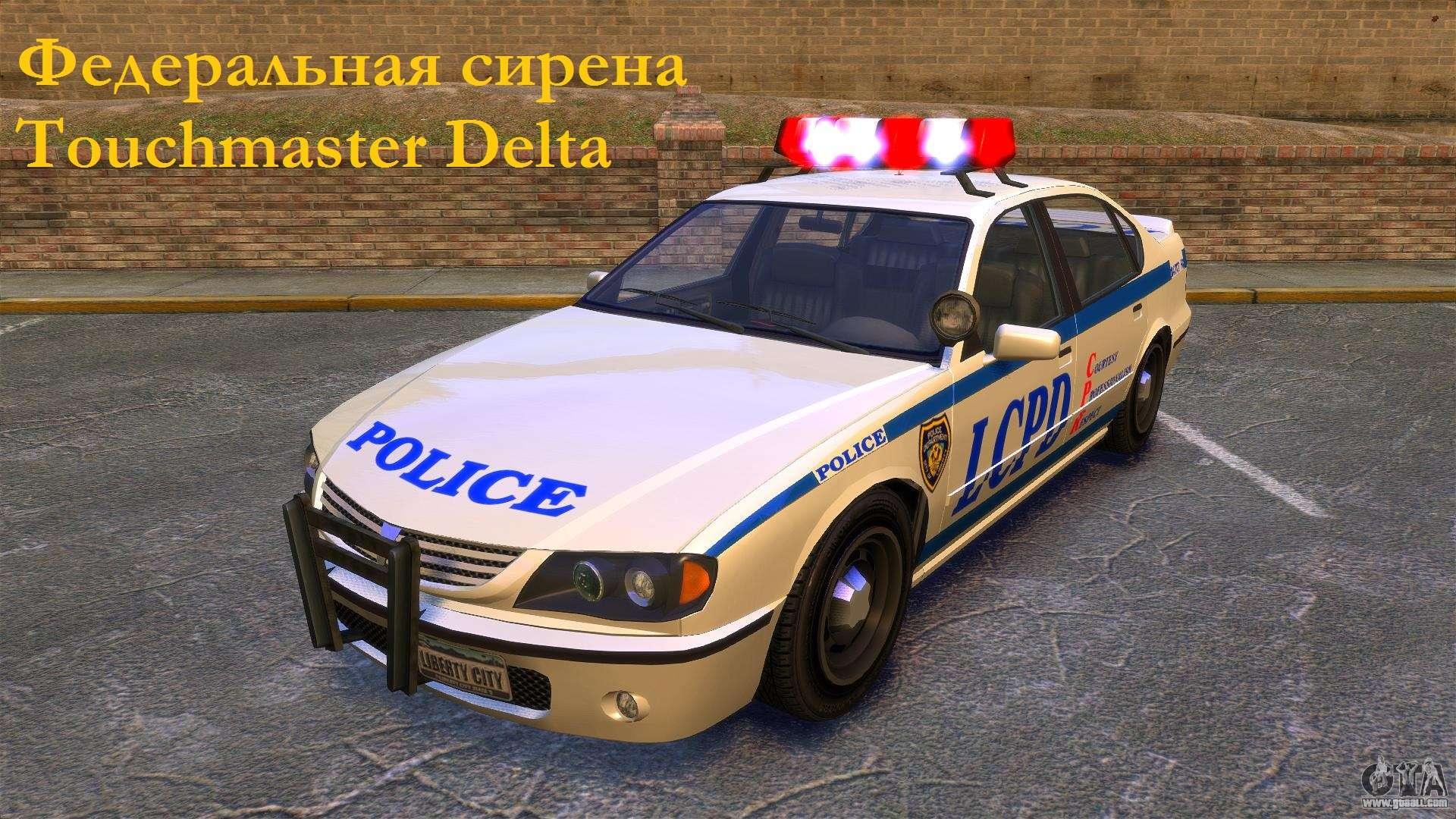 Federal siren Touchmaster Delta for GTA 4