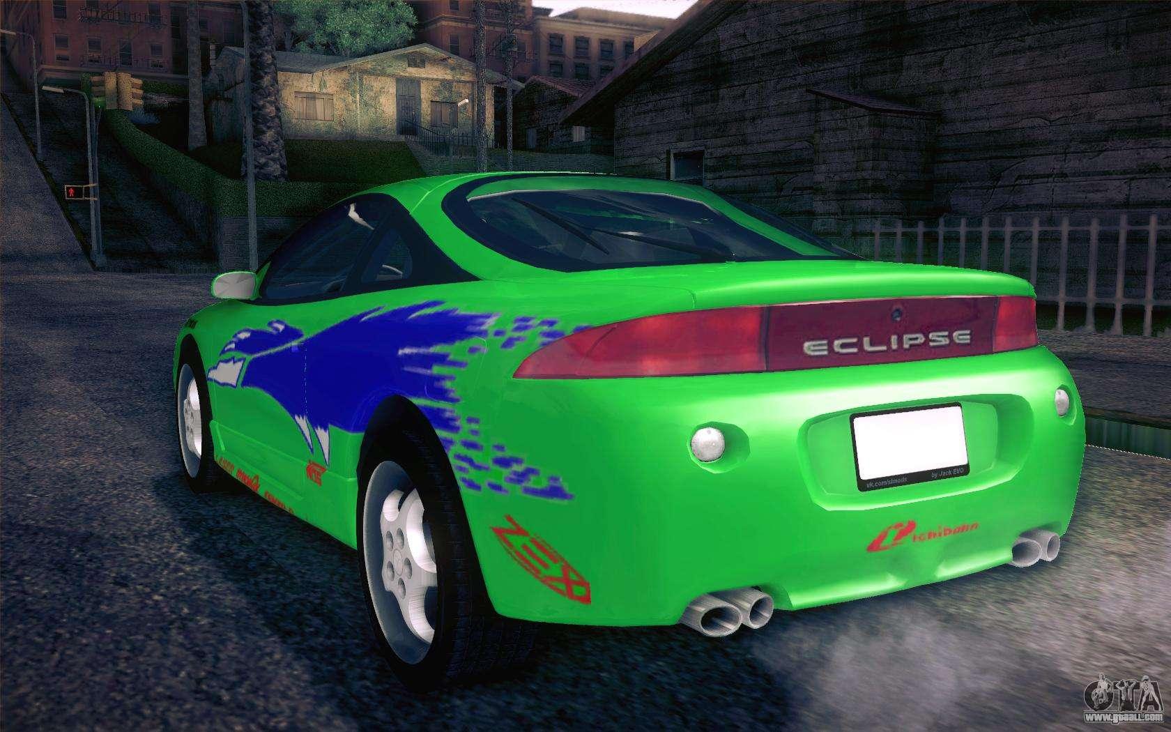 2014 Mitsubishi Eclipse >> Mitsubishi Eclipse Fast and Furious for GTA San Andreas