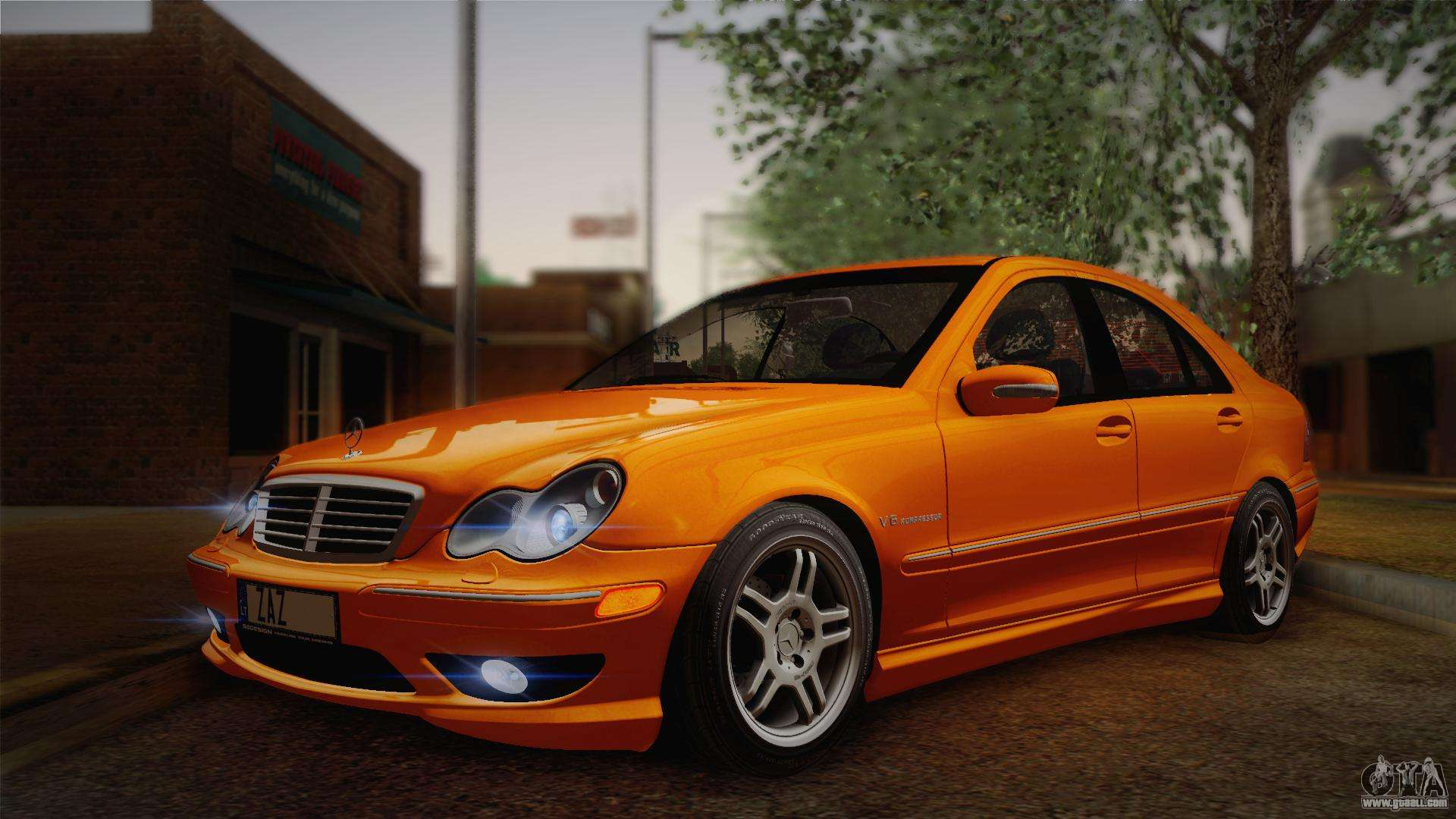 Mercedes benz c32 amg 2004 for gta san andreas left view