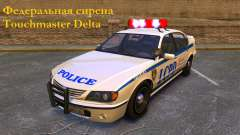 Federal siren Touchmaster Delta for GTA 4