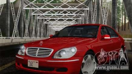 Mercedes-Benz S600 Biturbo 2003 for GTA San Andreas