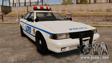 GTA V Police Vapid Cruiser LCPD for GTA 4