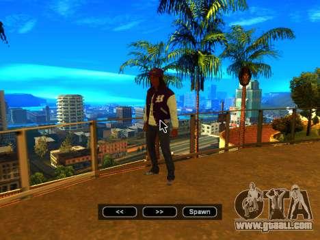 Pak skins girls for GTA San Andreas eleventh screenshot
