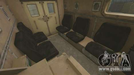Cougar MRAP 4X4 for GTA 4 inner view