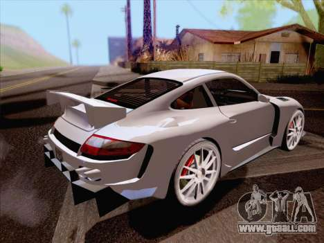 Porsche Carrera S for GTA San Andreas back left view