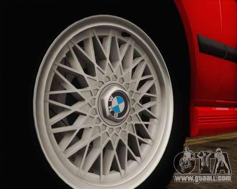 BMW M5 E28 for GTA San Andreas upper view