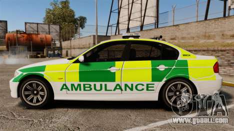 BMW 330i Ambulance [ELS] for GTA 4 left view