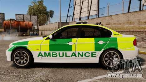 BMW 330i Ambulance [ELS] for GTA 4 left view
