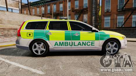 Volvo V70 Ambulance [ELS] for GTA 4 left view
