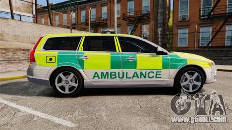 Volvo V70 Ambulance [ELS] for GTA 4 left view