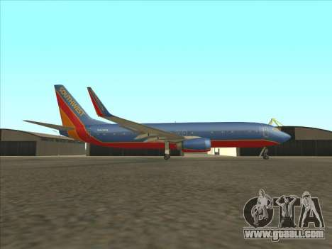 Boeing 737 Southwest Airlines for GTA San Andreas left view