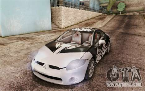 Mitsubishi Eclipse GT v2 for GTA San Andreas upper view