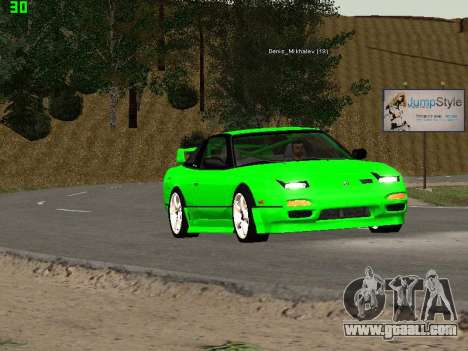 Nissan 240SX Drift Version for GTA San Andreas inner view