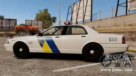 GTA V Vapid State Police Cruiser [ELS] for GTA 4 left view