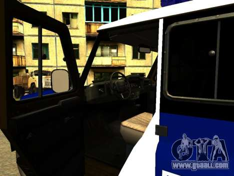 UAZ Hunter PPP for GTA San Andreas inner view