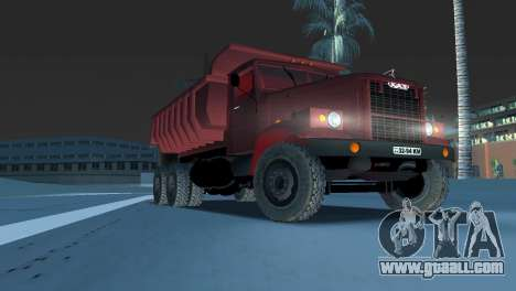 KrAZ 255 dump truck for GTA Vice City back view