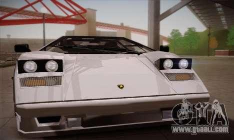 Lamborghini Countach 25th Anniversary for GTA San Andreas back left view