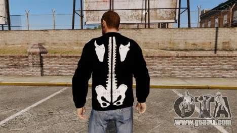 Black sweater-skeleton for GTA 4 second screenshot