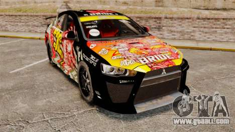 Mitsubishi Lancer Evolution X Ryo King for GTA 4