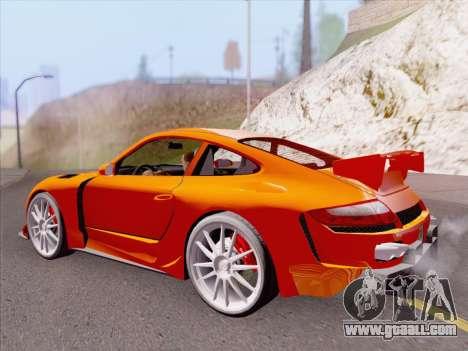 Porsche Carrera S for GTA San Andreas bottom view