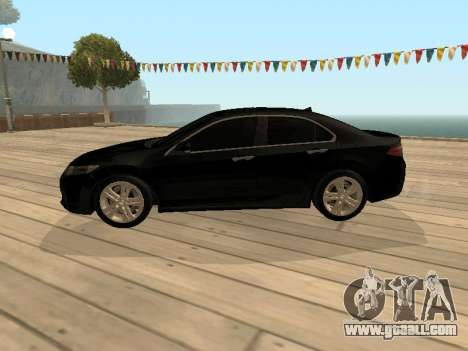 Honda Accord 2010 V2.0 for GTA San Andreas back left view