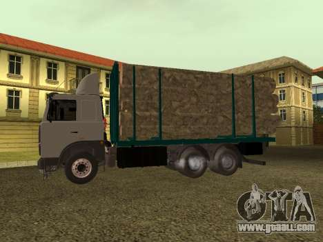 6430 MAZ timber carrier for GTA San Andreas back left view