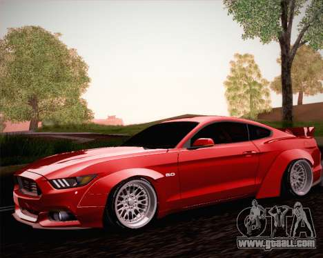 Ford Mustang Rocket Bunny 2015 for GTA San Andreas side view