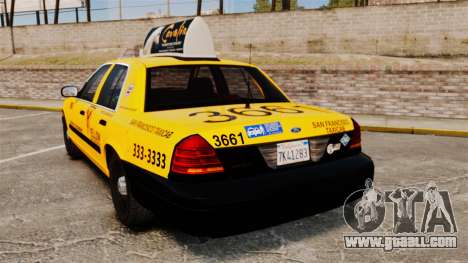 Ford Crown Victoria 1999 SF Yellow Cab for GTA 4 back left view