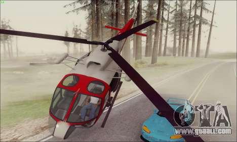 GTA V Ambulacia Maverick for GTA San Andreas left view