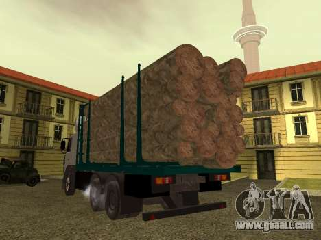 6430 MAZ timber carrier for GTA San Andreas right view
