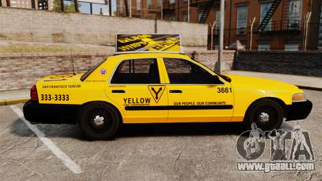 Ford Crown Victoria 1999 SF Yellow Cab for GTA 4 left view